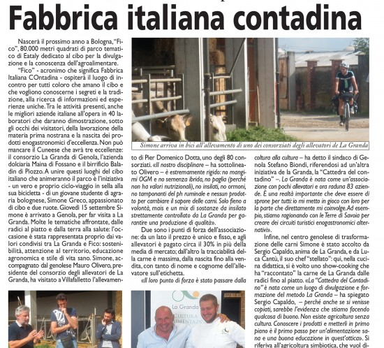 Fico Bike Tour - Genola