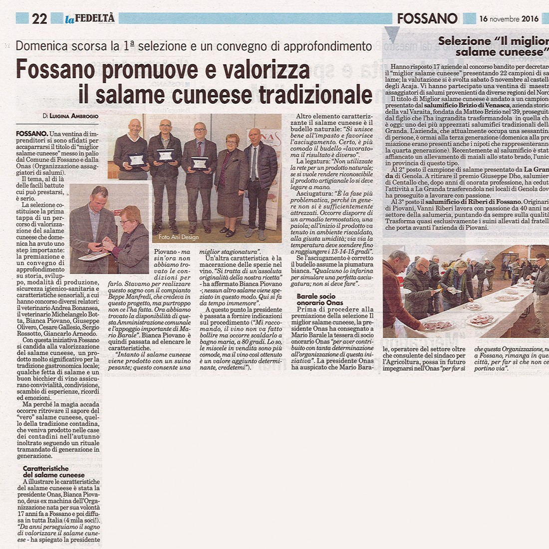 Fossano - Salame cuneese tradizionale